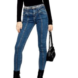 Front seam jeans